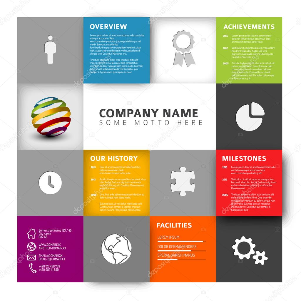 Mosaic company profile template stock vector orson 100176904 vector mosaic company infographic profile design template with icons vector by orson wajeb Images