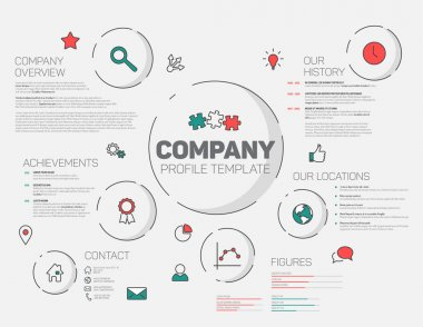 Company infographic profile design template