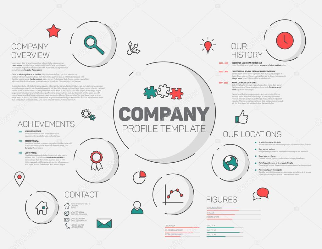 Company infographic profile design template — Stock Vector