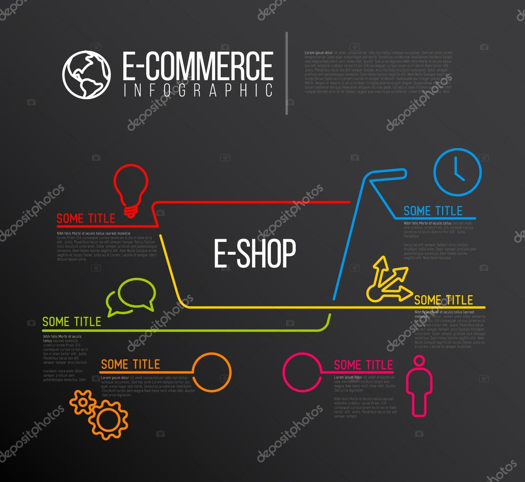 E commerce e shop infographic report template stock vector orson e commerce e shop infographic report template stock vector maxwellsz