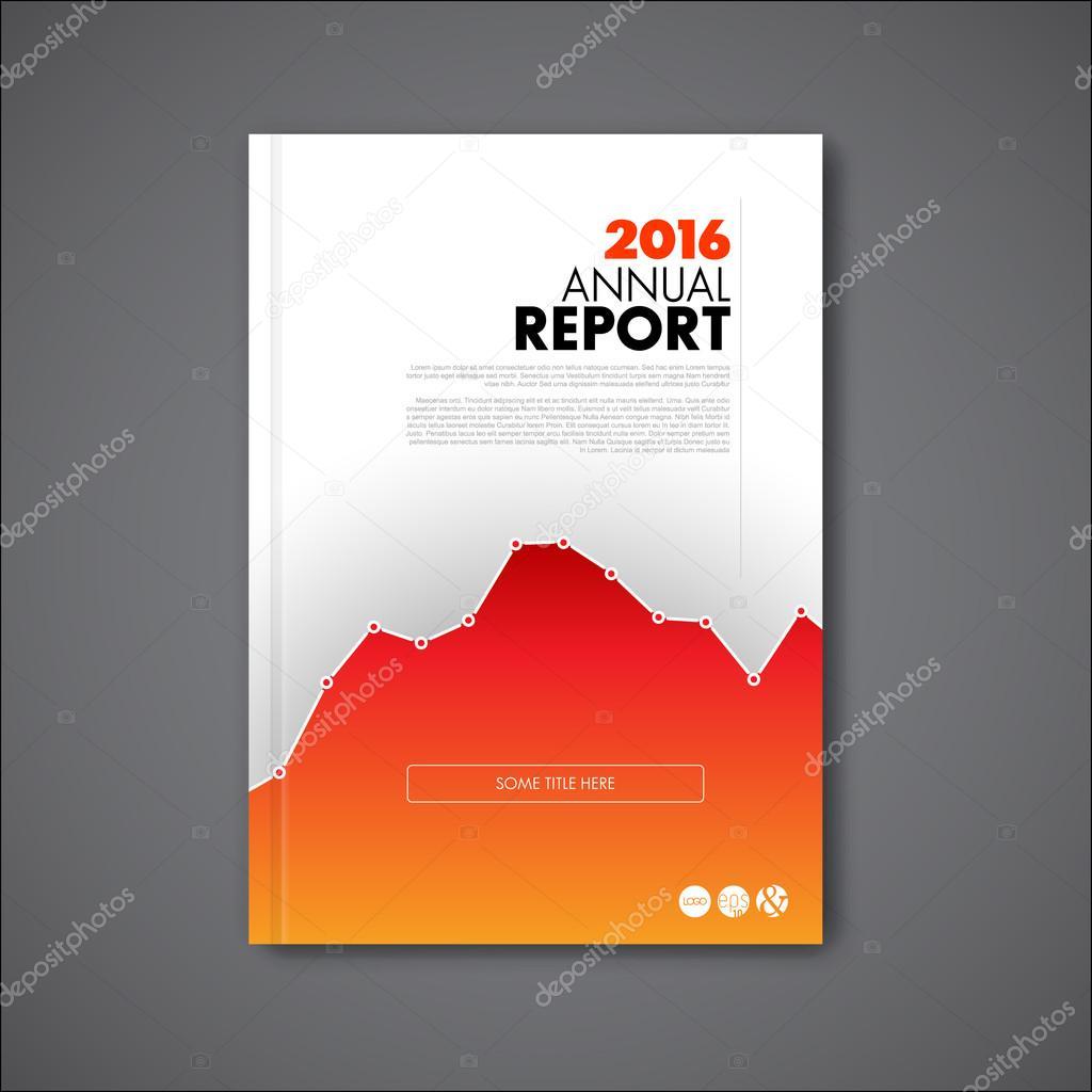モダンな年次報告書デザイン テンプレート ストックベクター orson