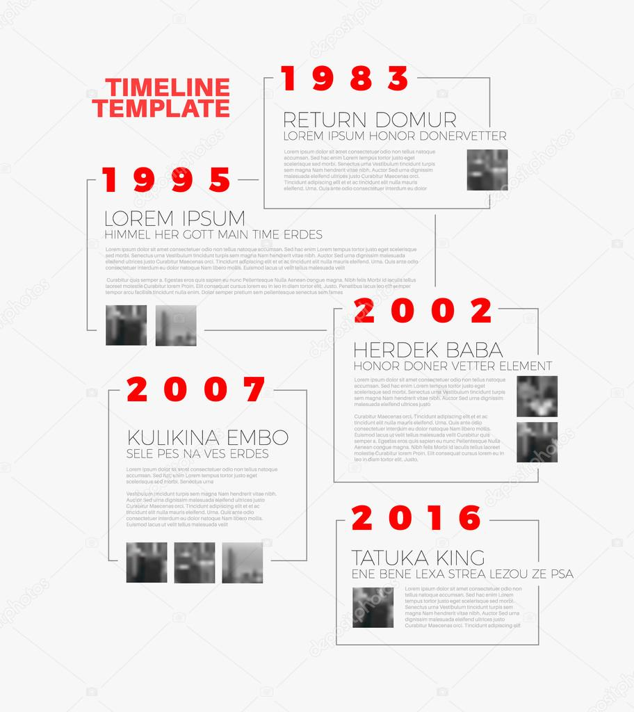 typographic timeline report template stock vector orson 119803512