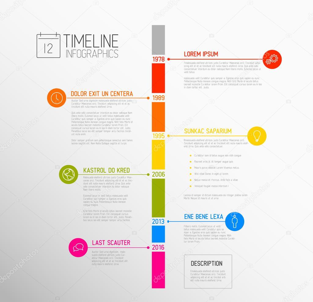 plantilla de informe de línea de tiempo — Vector de stock © orson ...