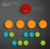 Šablona diagramu moderní a jednoduché organizační vektor
