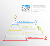 Fotografie Pyramid chart diagram template