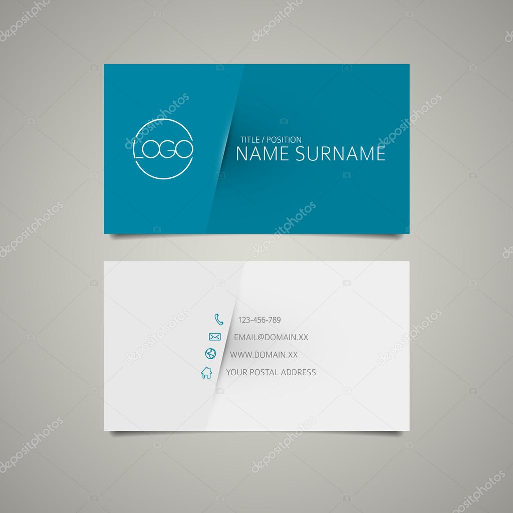 Modern simple business card template — Stock Vector © orson #52992879