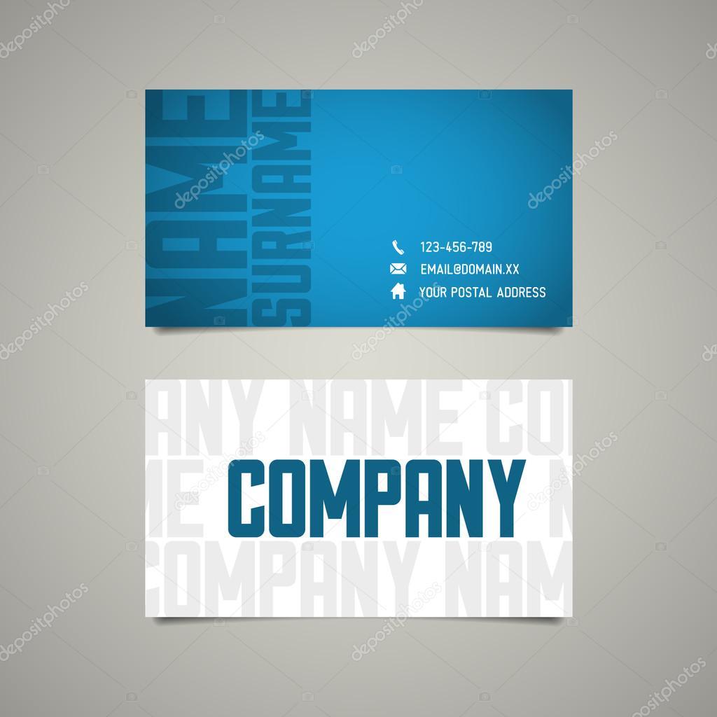 plantilla moderna tarjeta simple con letras grandes — Archivo ...
