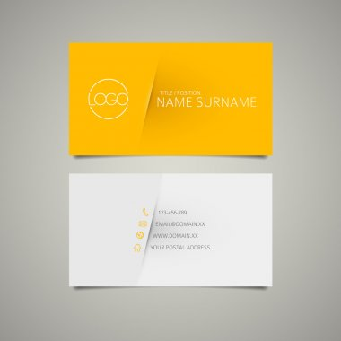 Modern simple business card template with place for your company name stock vector
