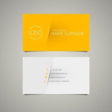 Modern simple business card template