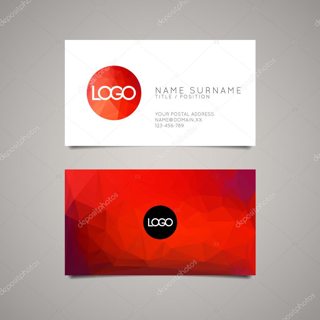 Modern simple business card template stock vector orson 53811741 modern simple business card template stock vector colourmoves