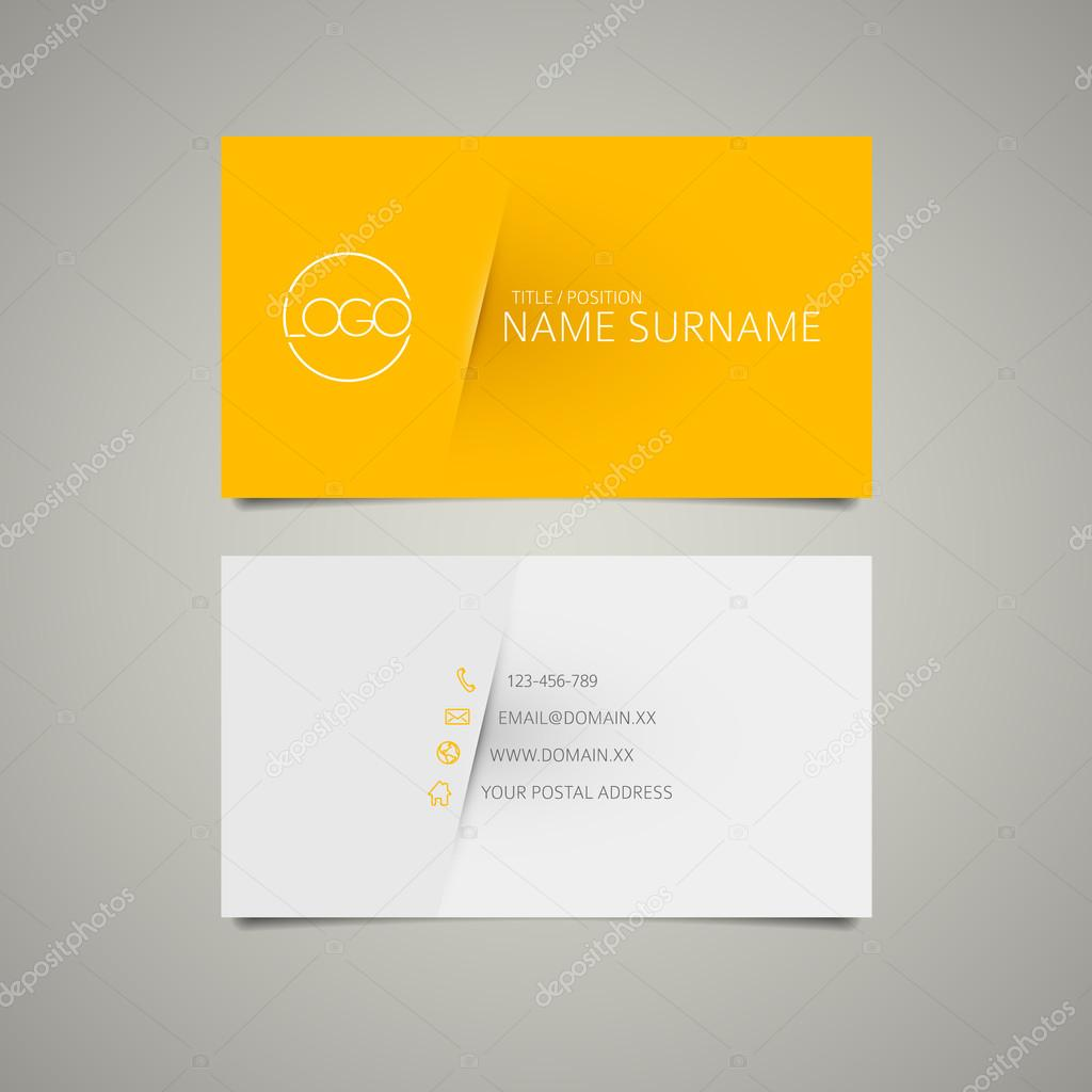 Modern simple business card template — Stock Vector © orson #53811747