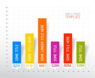 Infographic flat design column graph