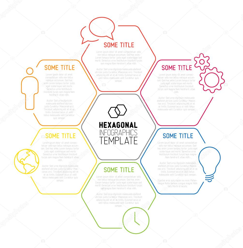 Modern hexagonal Infographic report template