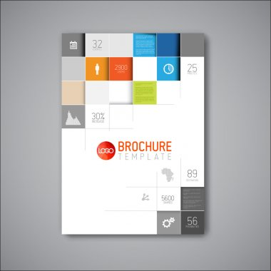 Modern Vector abstract brochure, book, flyer design template stock vector