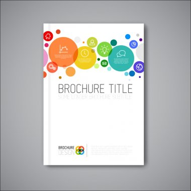 Vector abstract brochure design template