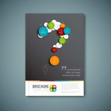 Modern Vector abstract brochure template