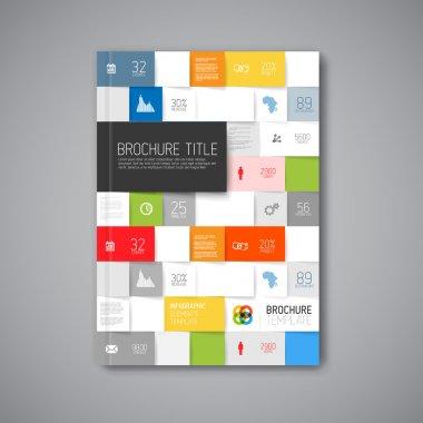 Vector abstract brochure design template
