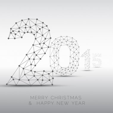 2015 card made from wired numbers