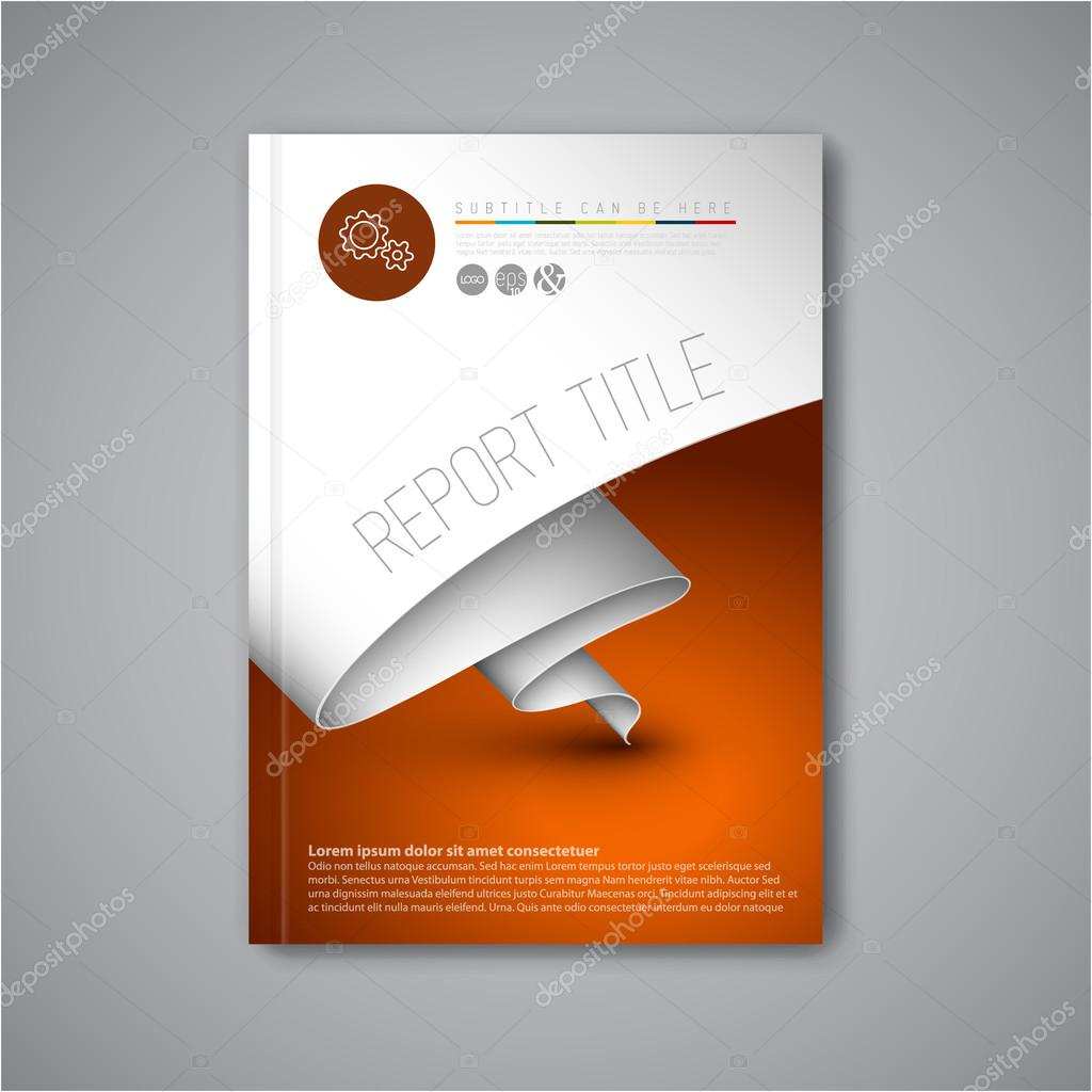 Modern Vector brochure design template