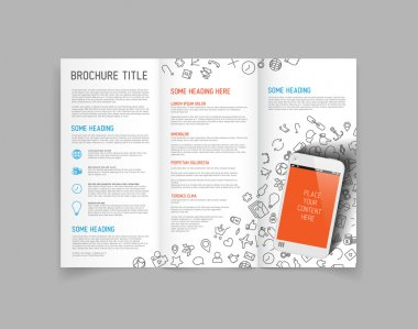 Three fold brochure design template