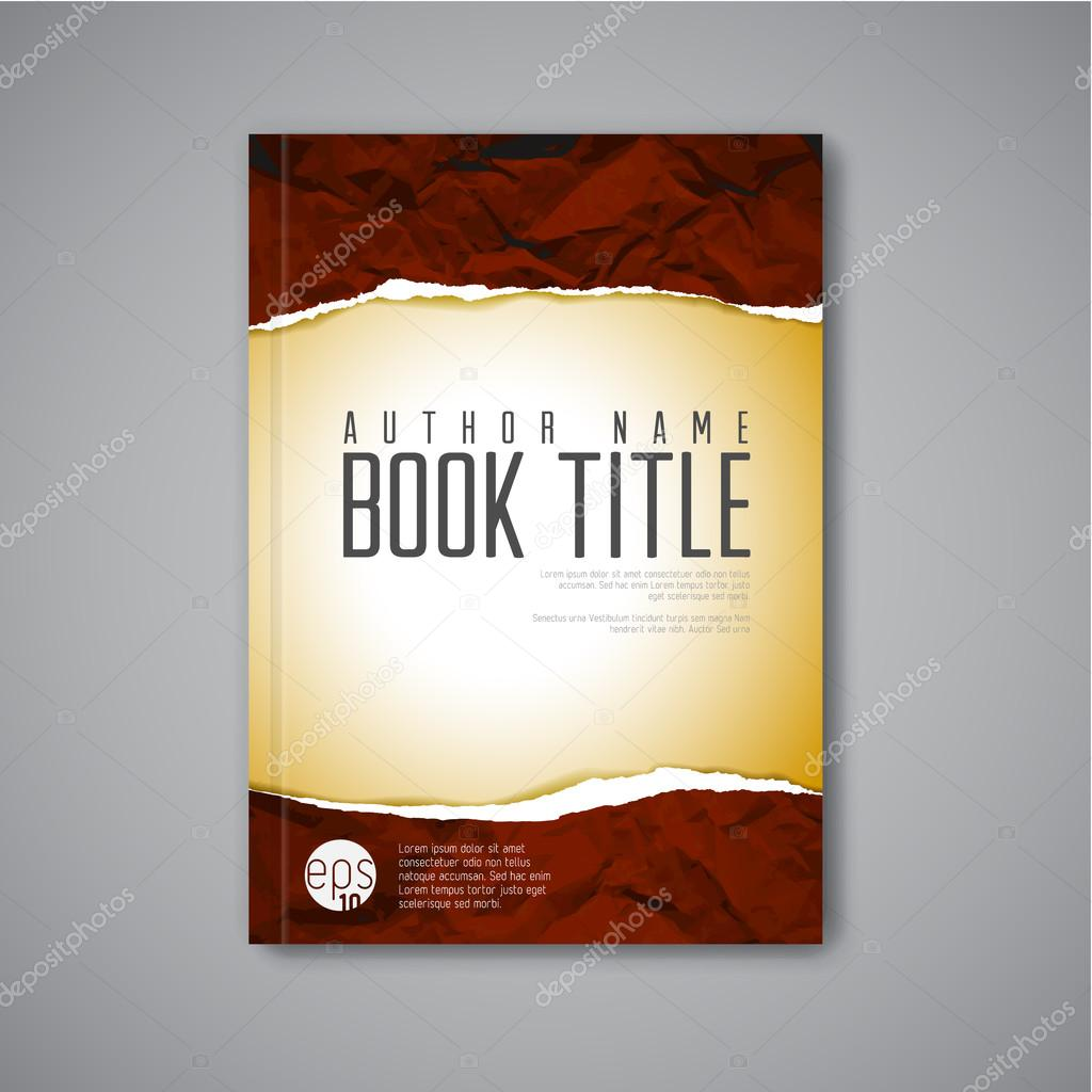 Book Cover Stock Images ~ Modern vector book cover template — stock orson