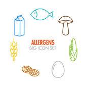 Vektor-Icons für Allergene