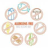 Ikonok az allergének ingyenes termékek
