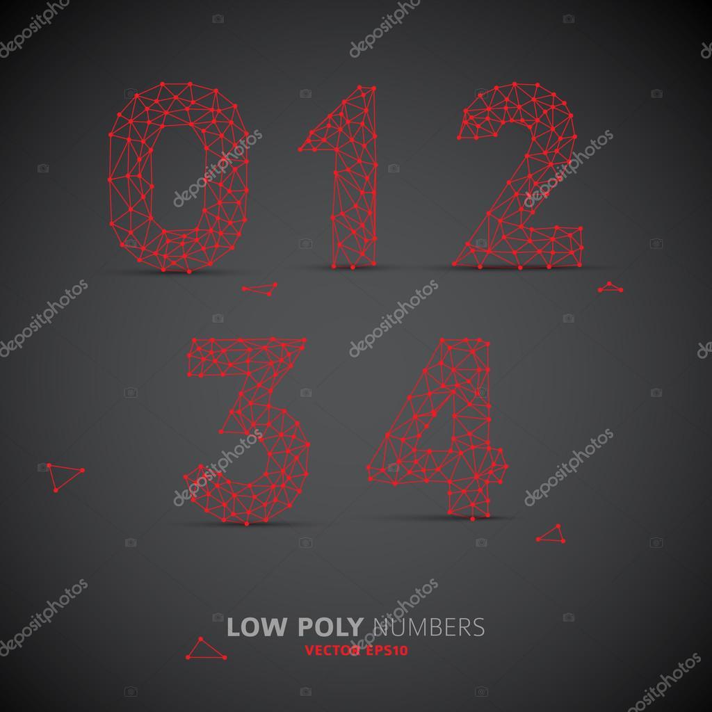 Niedrigen Poly Alphabet Schrift — Stockvektor © orson #61999333