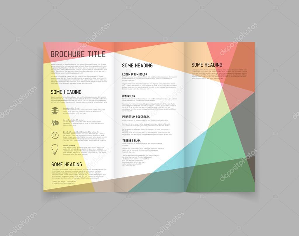 modern three fold brochure stock vector orson 62633815
