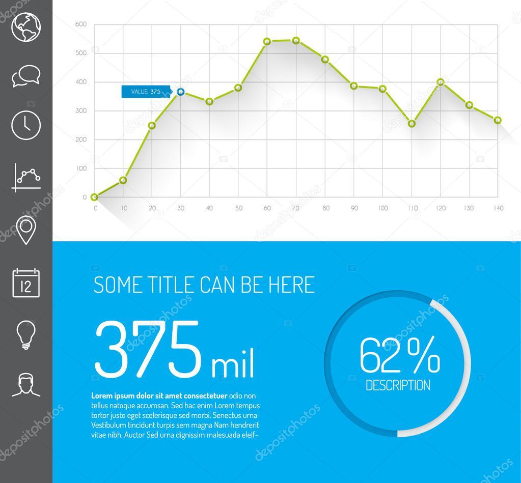 Plantilla de tablero de instrumentos simple infografía — Vector de ...