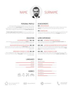 Minimalist resume template