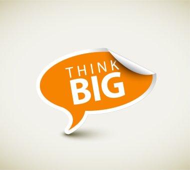 Inspirational saying Think big