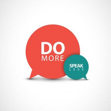 Inspirational saying Do more