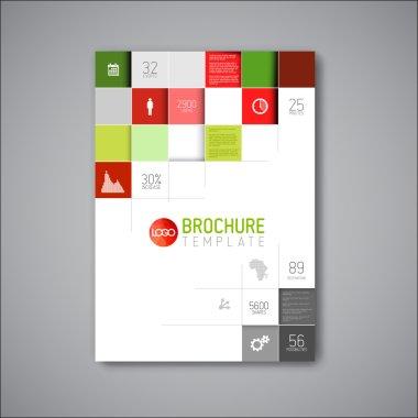 Modern abstract brochure design template
