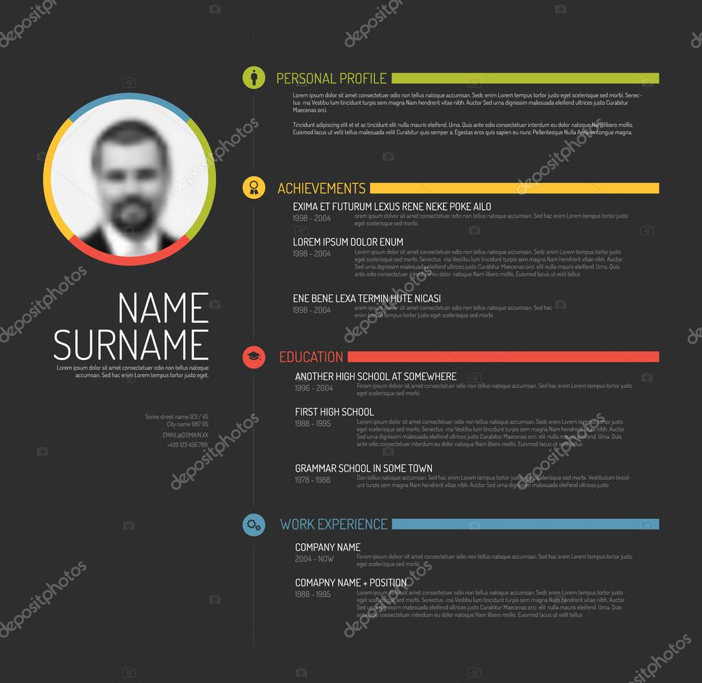 cv resume template  u2014 stock vector  u00a9 orson  70778919