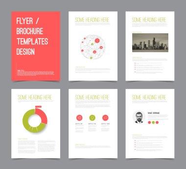 Modern brochure flyer design templates