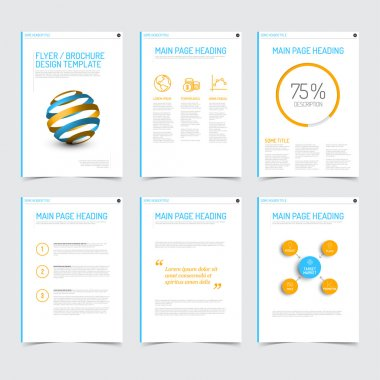 Modern brochure flyer design templates