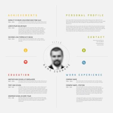 Minimalist cv resume template design
