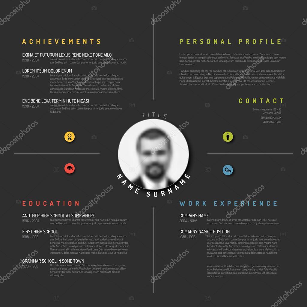 CV diseño de plantilla de CV — Archivo Imágenes Vectoriales ...