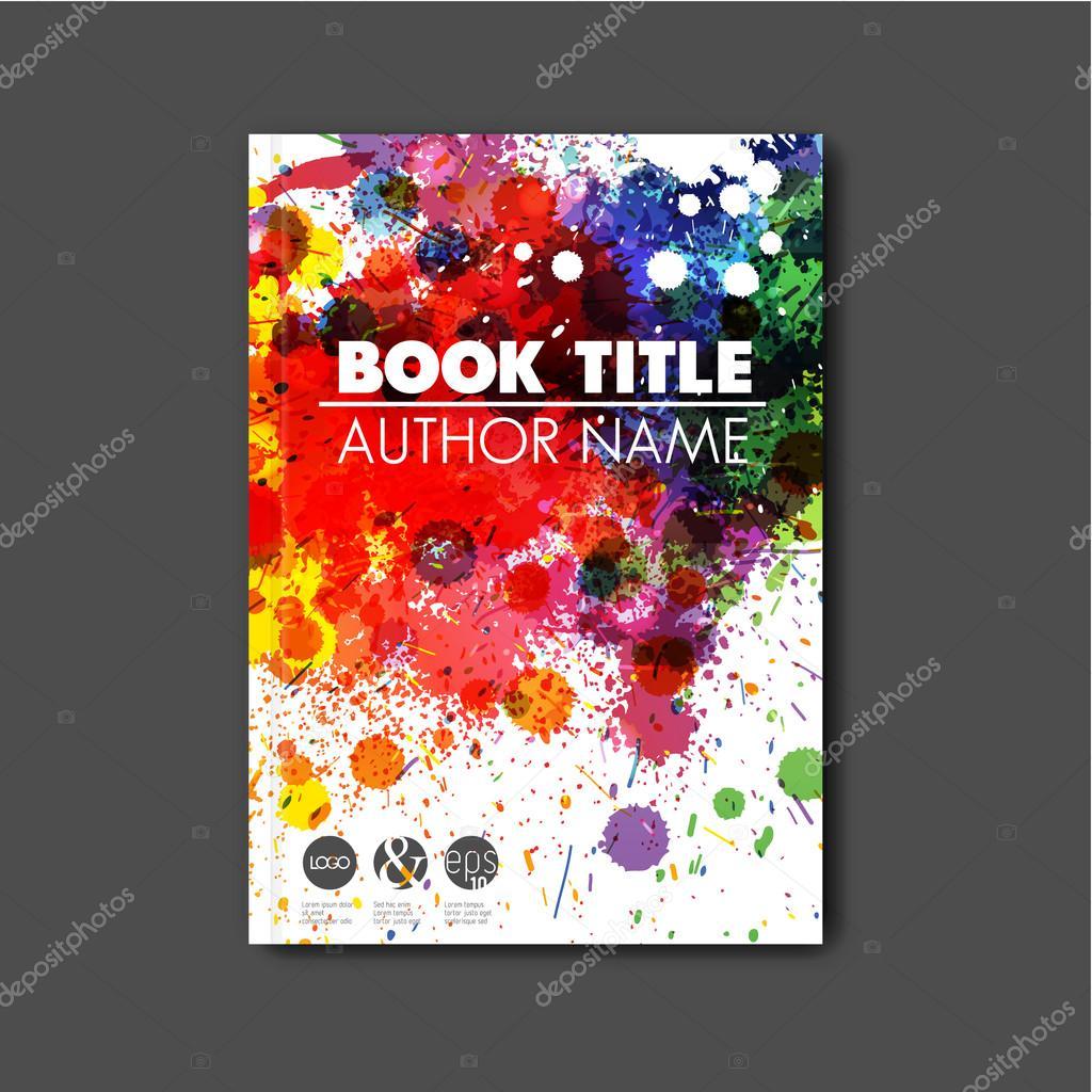 Modern Book Cover Vector ~ Modern abstract book cover template — stock vector orson