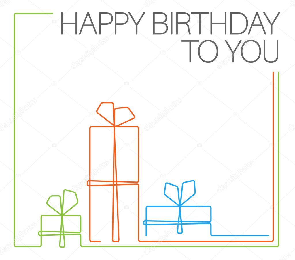 Happy birthday открытка 96