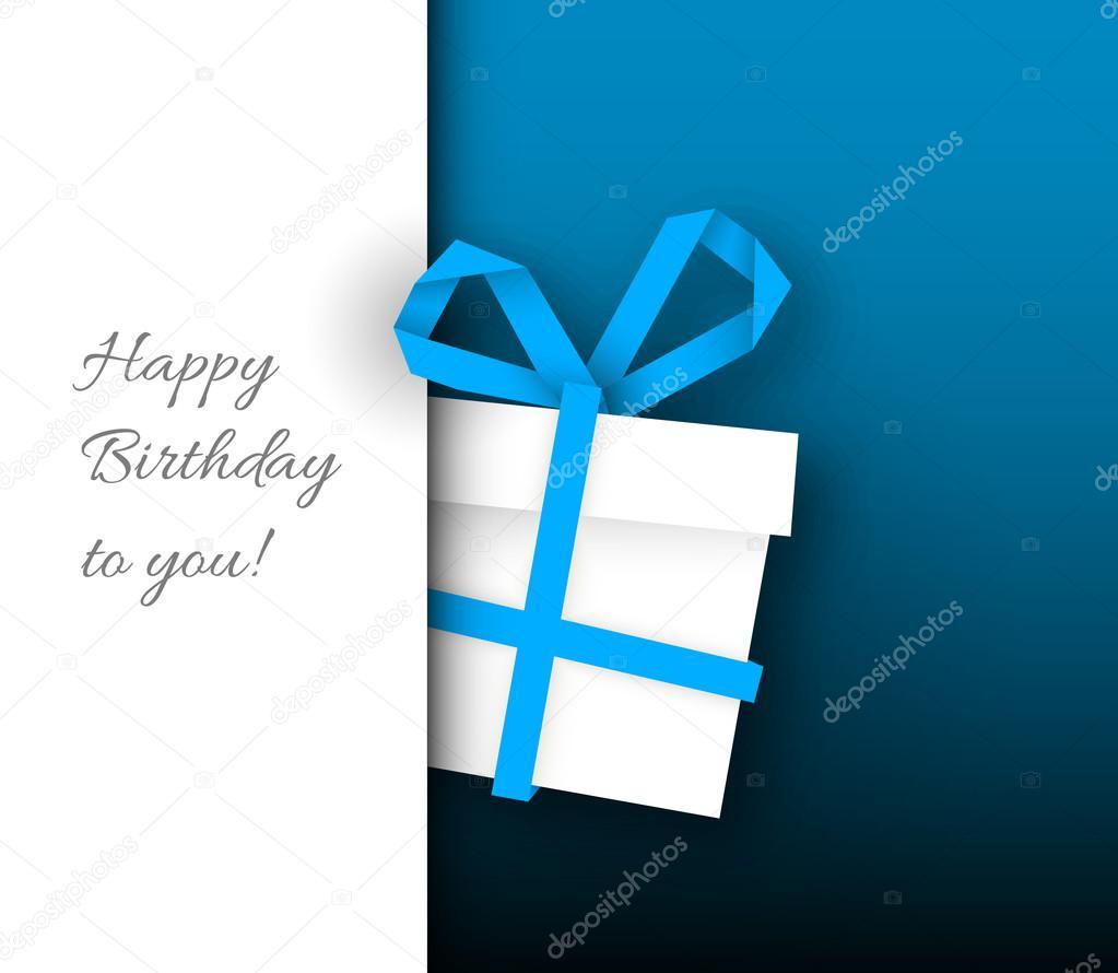 plantilla de tarjeta de cumpleaños minimalista — Archivo Imágenes ...