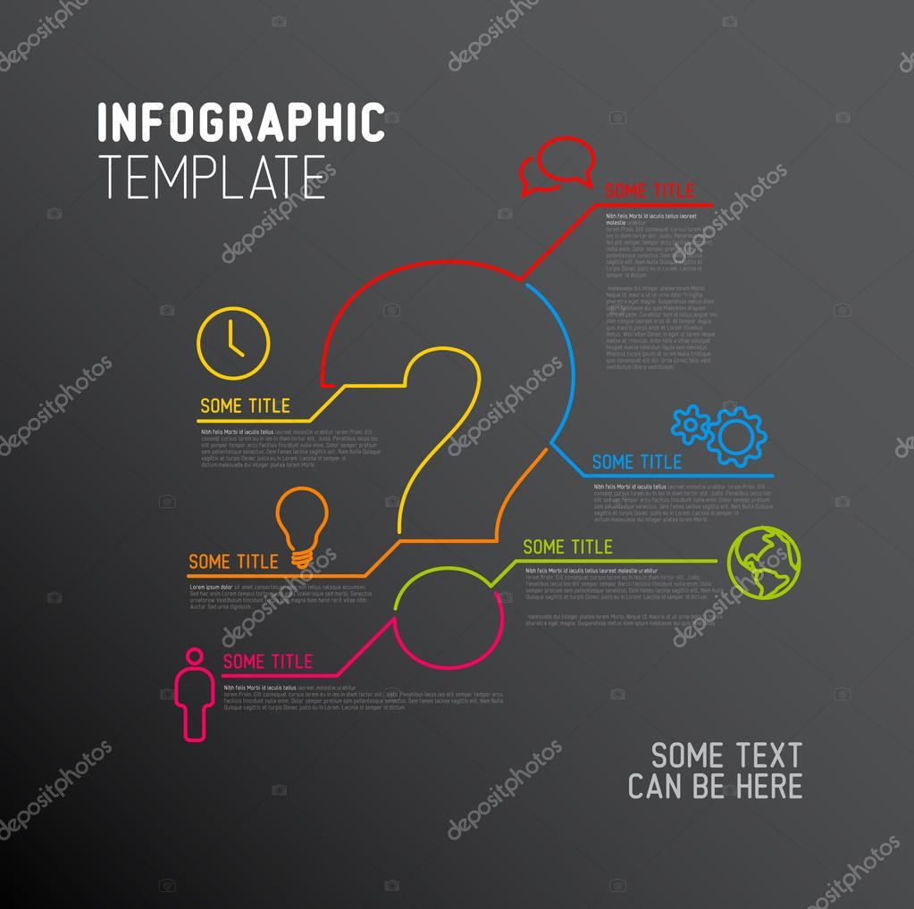 Question Mark Infographic report template — Stock Vector © orson ...