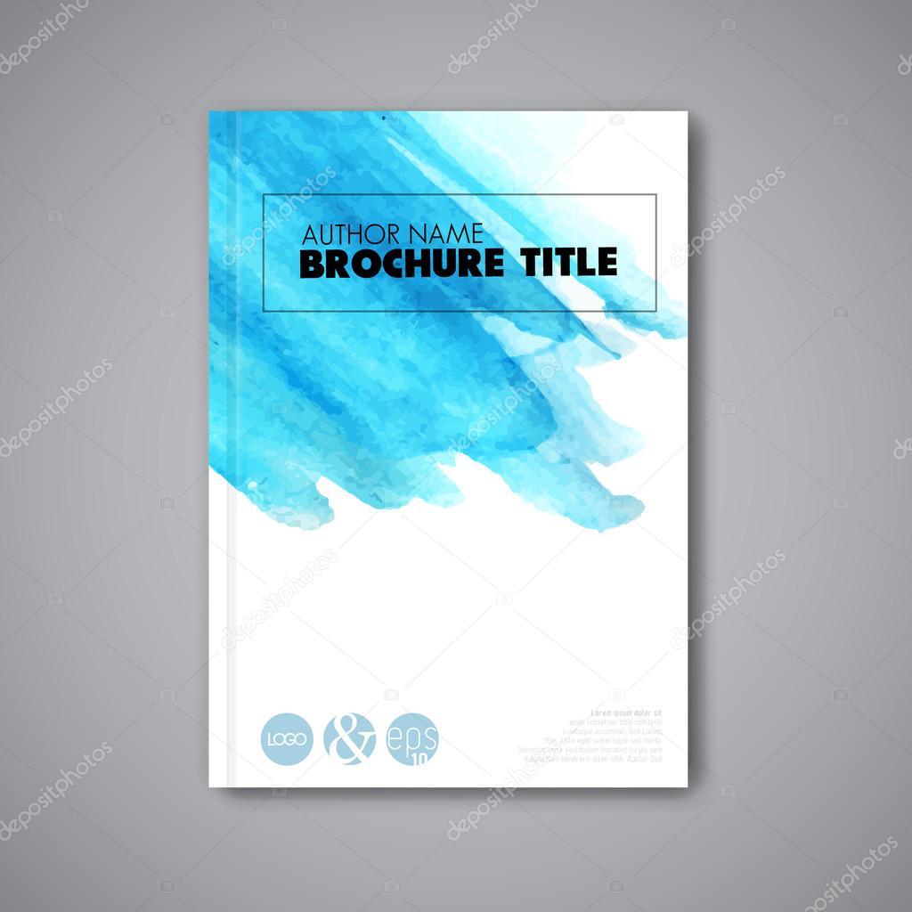 Book Cover Watercolor Xp : Modelo de aquarela capa livro — vetores stock