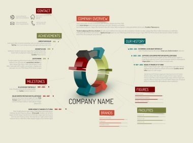 Company overview design template