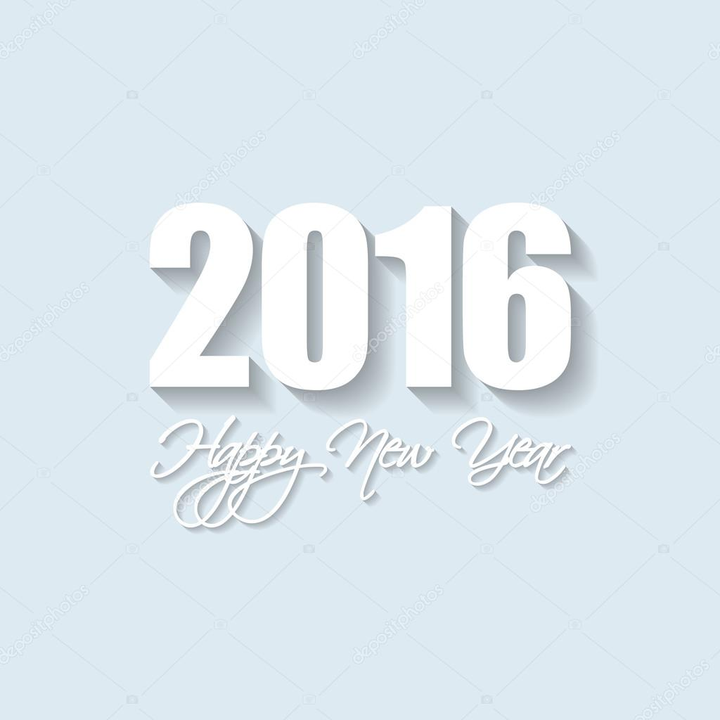 vector modern simple happy new year card 2016 with a long shadow effect vector by orson