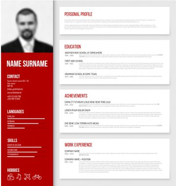 cv resume template design