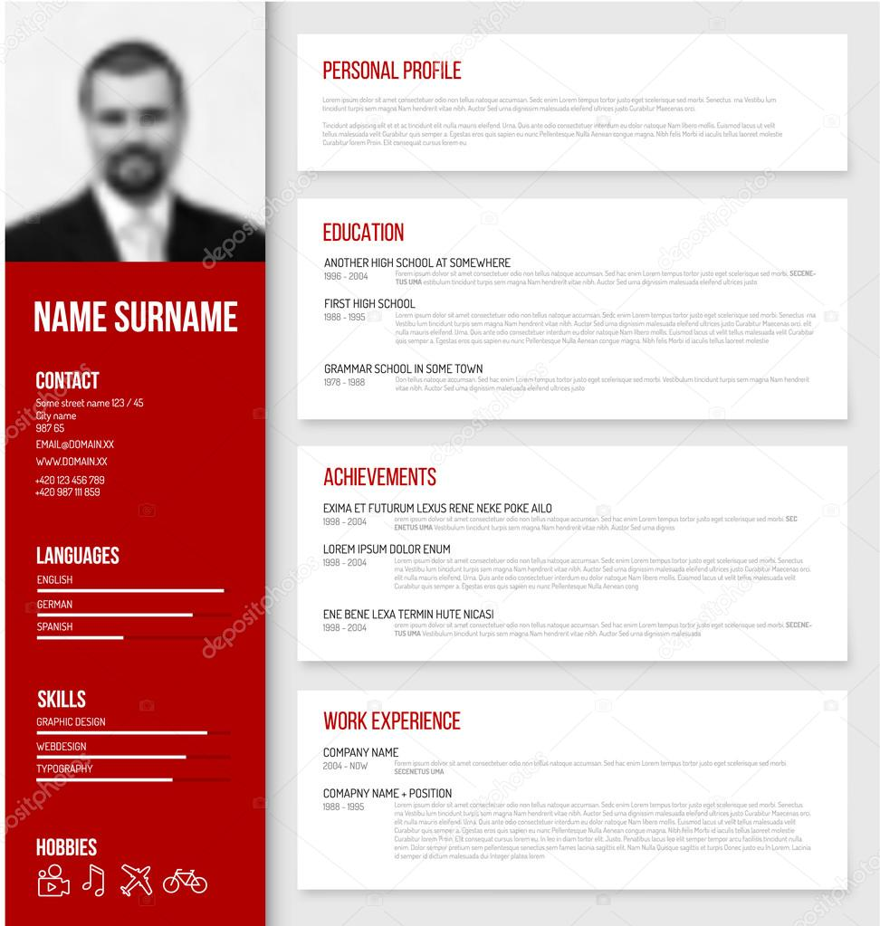 Cv Resume Template Design  Stock Vector  Orson