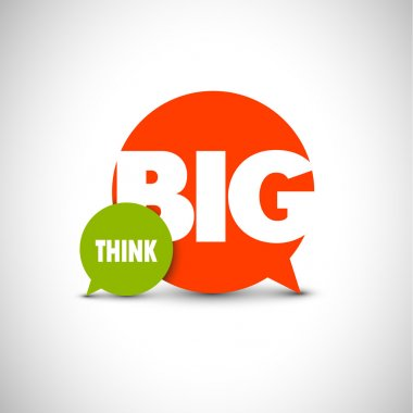 text lettering of an inspirational saying Think big