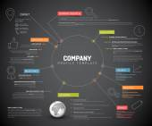 Company infographic overview design template